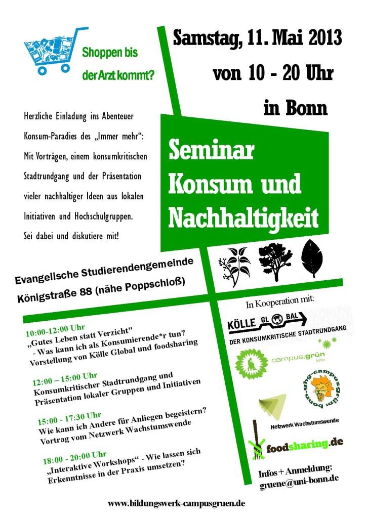 """Seminar """"Konsum und Nachhaltigkeit"""""""